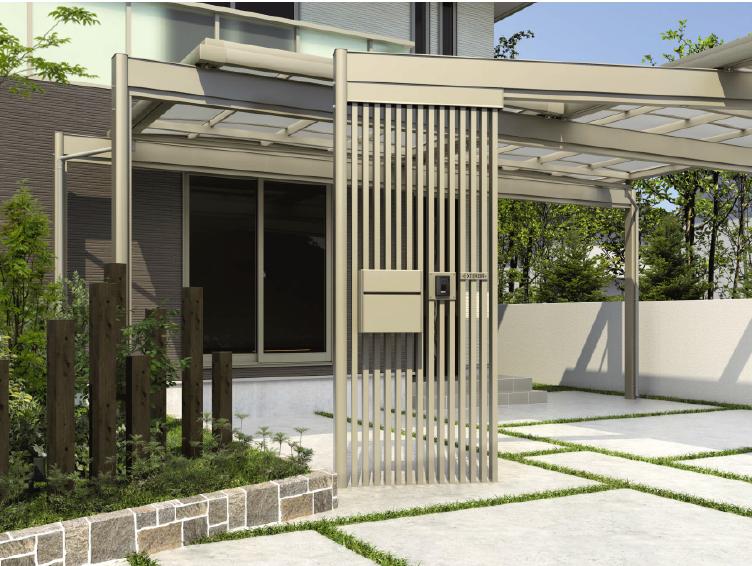 敷地や建築条件に合わせた組み合わせが可能なカーポート2
